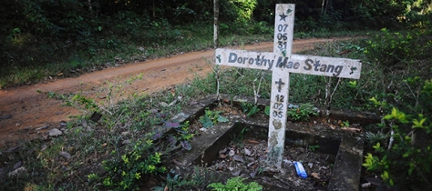 CROSS MARKS SPOT WHERE U.S. SISTER DOROTHY STANG WAS MURDERED IN BRAZIL IN 2005